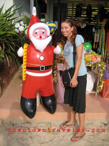 Santa finds travelers anywhere!