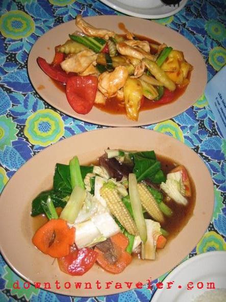 Thai food prepared in Koh Lanta, Thailand