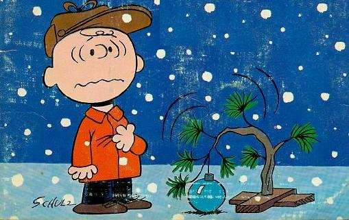 Charlie Brown and Christmas tree from the TV special
