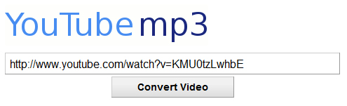 YouTube to MP3 converter screenshot