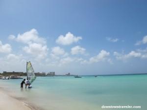 Windsurfing in Aruba