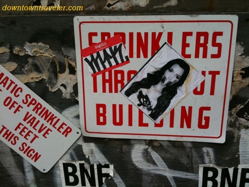 Kim Kardashian street art on Bleeker St in NYC's East Village