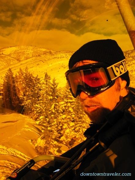 The heated ski lift at Canyons Resort in Park City, Utah.