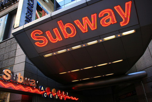 NYC subway entrance photo by Jeffrey Tanenhaus