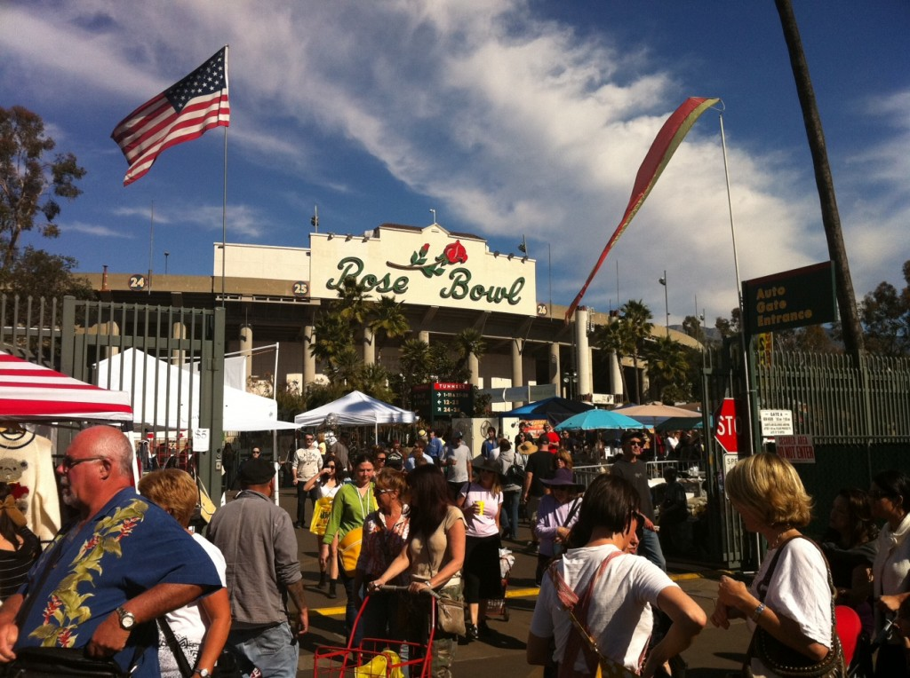 The Rose Bowl Flea Market in Los Angeles