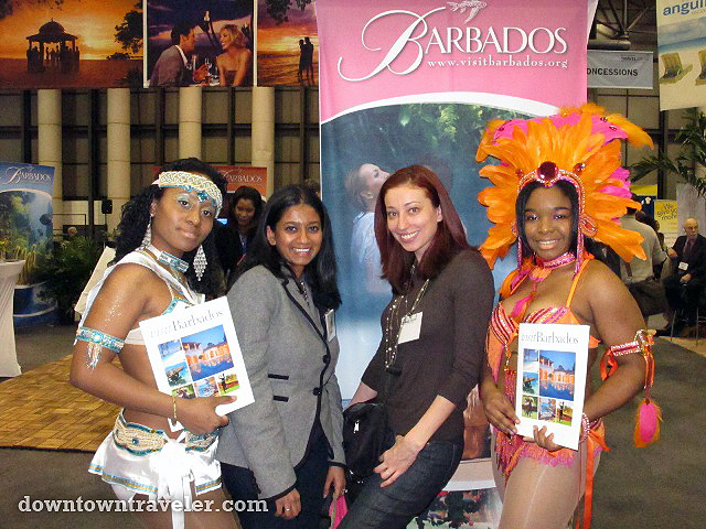 Bloggers and Barbados reps at the New York Times Travel Show 2011