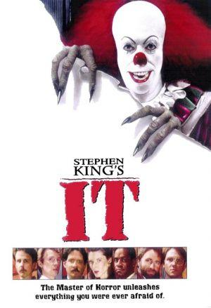 Poster from Stephen King film It with scary clown