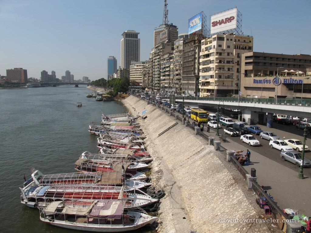 Boast line Cairo's Nile River