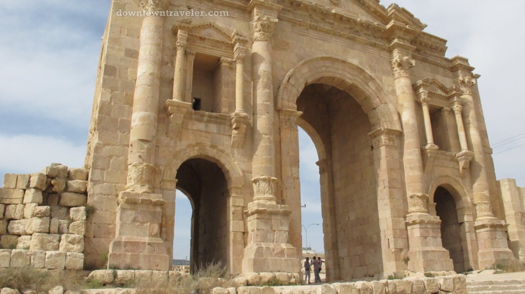 Ancient ruins in Jerash Jordan