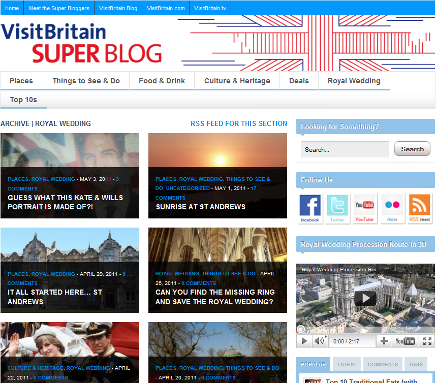 VisitBritain super blog royal wedding