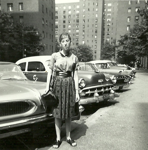 Girl in Stuyvesant Town circa 1960 wearing handmade outfit
