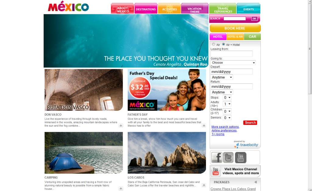 Visit Mexico screenshot