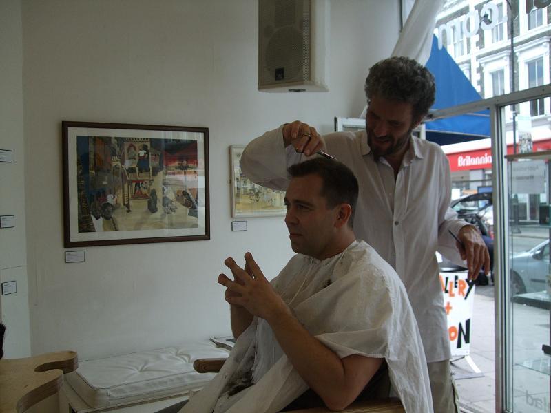 Flaxon Ptootch hair salon/art gallery in London