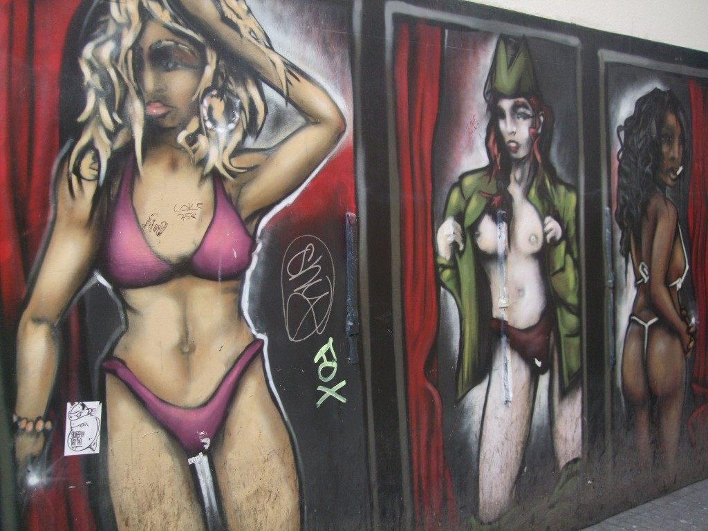 Street mural in the Red Light District